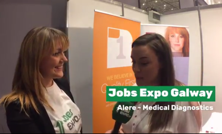 Jobs Expo TV spoke with Alere at Jobs Expo Galway
