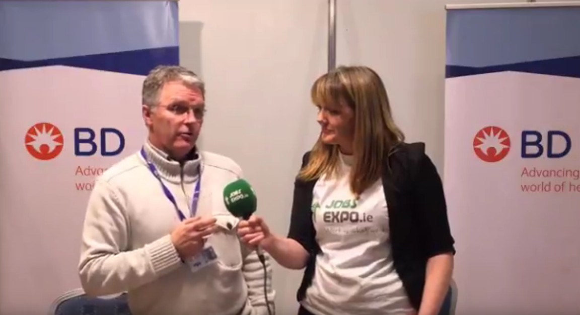 Global medtech firm BD chats to Jobs Expo TV at Jobs Expo Galway
