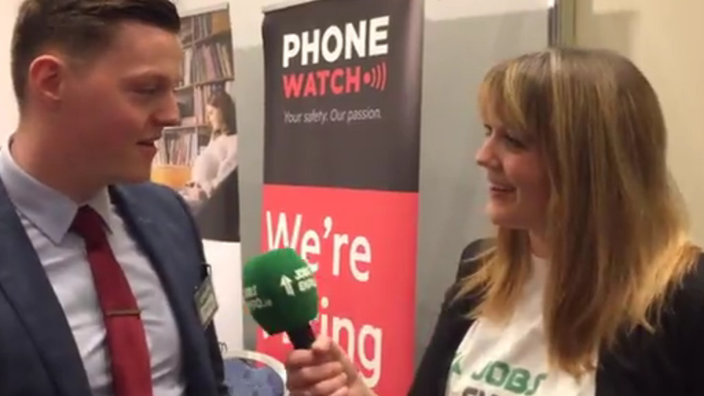 Jobs Expo TV meets PhoneWatch at Jobs Expo Galway