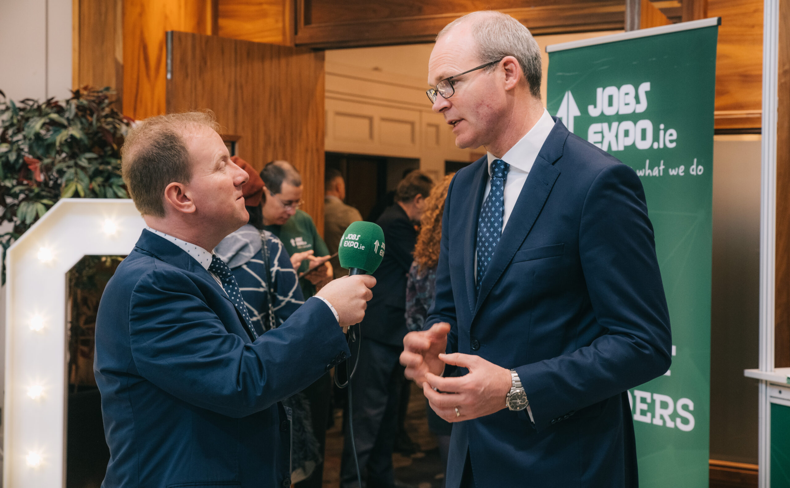 Tanaiste and Minister for Foreign Affairs, Simon Coveney TD, meets attendees at Jobs Expo Cork