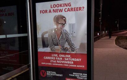 Keep your eyes peeled for Virtual Recruitment Expo at a Bus Shelter Near You!