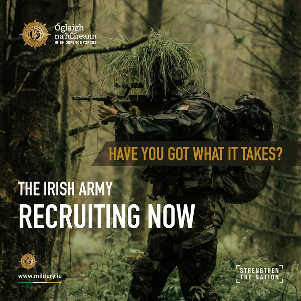 The Irish Defence Forces will be recruiting at our two November Jobs Expo events